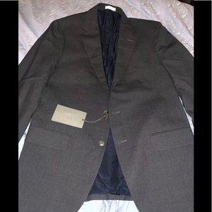 Boglioli Milano Mens Grey Wool Suit Size 52R